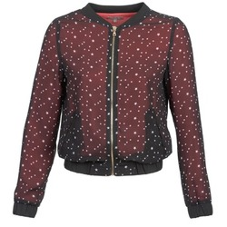 Kleidung Damen Jacken / Blazers Moony Mood CAT Schwarz / Rot