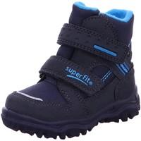 Schuhe Mädchen Schneestiefel Superfit Klettstiefel Husky 1 Lauflerschneestiefel 1-009044-8000 blau