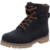 Schuhe Jungen Boots Sabalin Schnuerstiefel Blauer Worker-Boot 64-2687 blau