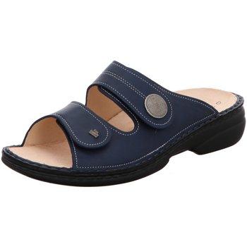 Schuhe Damen Pantoffel Finn Comfort Pantoletten 2550-120040 Sansibar blau