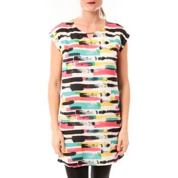 Kleidung Damen Kurze Kleider Little Marcel Robe Romine E15FDRE0209 Blanc Weiss