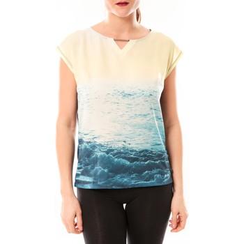 Kleidung Damen T-Shirts Little Marcel Tee-shirt Trisi E15FTSS0333 Bleu Blau