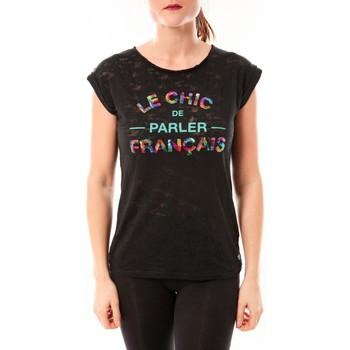 Kleidung Damen T-Shirts Little Marcel Tee-shirt Tamia E15FTSS0124 Noir Schwarz