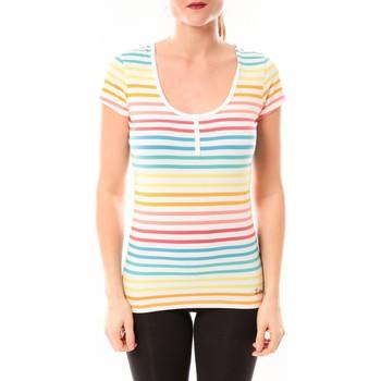 Kleidung Damen T-Shirts Little Marcel Tee-shirt Tatoum Multi 318FB Blanc Weiss