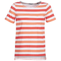 Kleidung Damen T-Shirts Marc O'Polo CARACOLINE Weiss / Orange