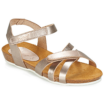 Schuhe Mädchen Sandalen / Sandaletten Kickers BOGART Bronze / Mettalfarben