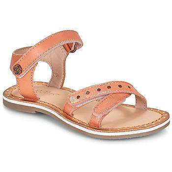 Schuhe Mädchen Sandalen / Sandaletten Kickers DIDONC Rose / Mettalfarben