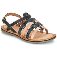 Schuhe Mädchen Sandalen / Sandaletten Kickers DIXON Schwarz