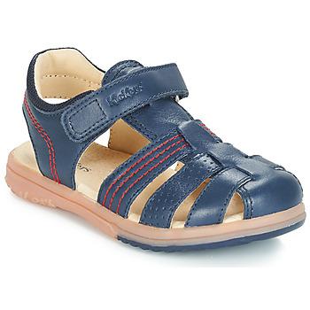 Schuhe Jungen Sandalen / Sandaletten Kickers PLATINIUM Marine