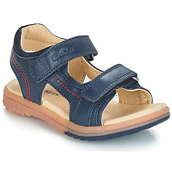 Schuhe Jungen Sandalen / Sandaletten Kickers PLATINO Marine