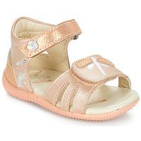Schuhe Mädchen Sandalen / Sandaletten Kickers BESHINE Rose / Mettalfarben