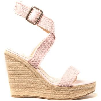 Schuhe Damen Leinen-Pantoletten mit gefloch Cassis Côte d'Azur Chaussures Alika Rose Rose