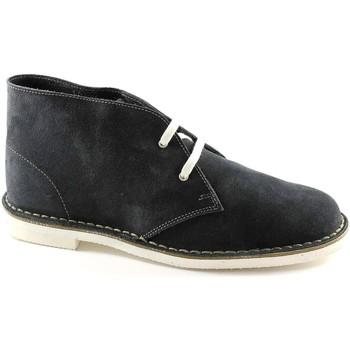 Schuhe Herren Boots Manifatture Italiane MANIFATTURE ITALIAN 190 blaue Schuhe Mann Wanderschuhe Desert Bo Blu