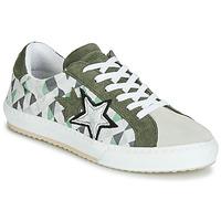 Schuhe Damen Sneaker Low Mustang 2874302-277 Kaki / Weiss