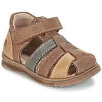 Schuhe Jungen Sandalen / Sandaletten Citrouille et Compagnie FRINOUI Braun / Multifarben