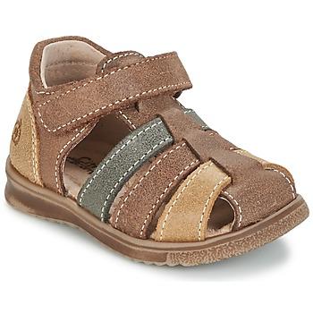 Schuhe Jungen Sandalen / Sandaletten Citrouille et Compagnie FRINOUI Braun / Multicolor