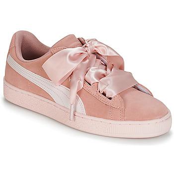 Schuhe Mädchen Sneaker Low Puma JR SUEDE HEART JEWEL.PEACH Rose