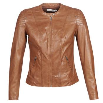 Kleidung Damen Lederjacken / Kunstlederjacken Naf Naf CLIM Cognac