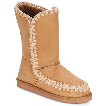 Schuhe Damen Klassische Stiefel LPB Shoes NATHALIE Camel