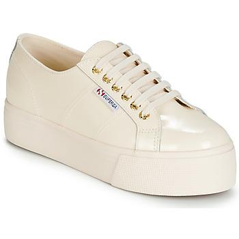 Schuhe Damen Sneaker Low Superga 2790 LEAPATENT Naturfarben