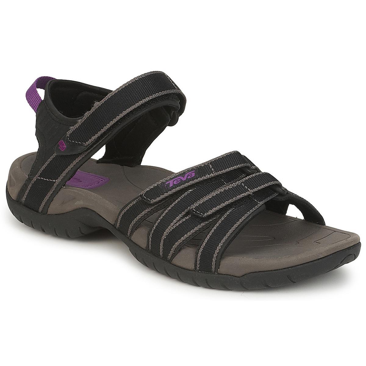 Teva TIRRA Schwarz / Grau - Kostenloser Versand bei Spartoode ! - Schuhe Sportliche Sandalen Damen 59,49 €