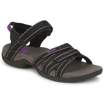 Schuhe Damen Sportliche Sandalen Teva TIRRA Schwarz / Grau