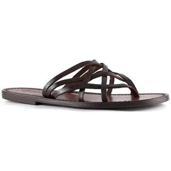 Schuhe Damen Sandalen / Sandaletten Gianluca - L'artigiano Del Cuoio 543 D MORO CUOIO Testa di Moro