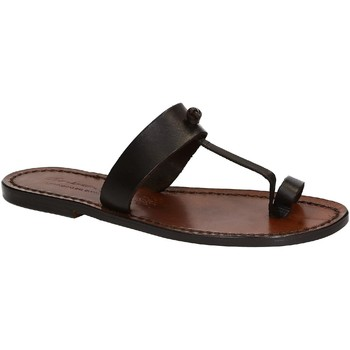 Schuhe Damen Sandalen / Sandaletten Gianluca - L'artigiano Del Cuoio 554 D MORO CUOIO Testa di Moro