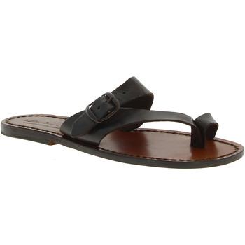 Schuhe Damen Sandalen / Sandaletten Gianluca - L'artigiano Del Cuoio 556 D MORO CUOIO Testa di Moro