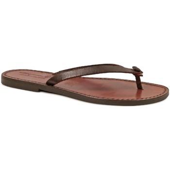 Schuhe Damen Zehensandalen Gianluca - L'artigiano Del Cuoio 540 D MORO CUOIO Testa di Moro