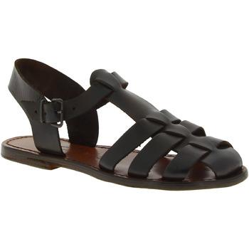 Schuhe Damen Sandalen / Sandaletten Gianluca - L'artigiano Del Cuoio 501 D MORO CUOIO Testa di Moro