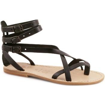 Schuhe Damen Sandalen / Sandaletten Gianluca - L'artigiano Del Cuoio 564 D NERO LGT-CUOIO nero