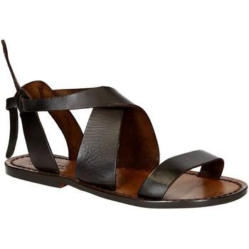 Schuhe Damen Sandalen / Sandaletten Gianluca - L'artigiano Del Cuoio 570 D MORO CUOIO Testa di Moro
