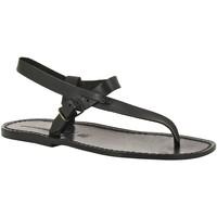 Schuhe Herren Sandalen / Sandaletten Gianluca - L'artigiano Del Cuoio 592 U NERO CUOIO nero