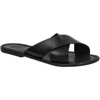 Schuhe Damen Pantoffel Gianluca - L'artigiano Del Cuoio 560 D NERO CUOIO nero