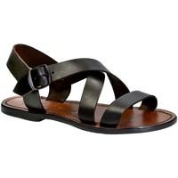 Schuhe Damen Sandalen / Sandaletten Gianluca - L'artigiano Del Cuoio 508X D MORO CUOIO Testa di Moro