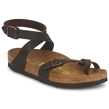 Schuhe Damen Sandalen / Sandaletten Birkenstock YARA PREMIUM Braun