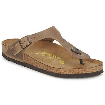 Schuhe Damen Zehensandalen Birkenstock GIZEH Braun