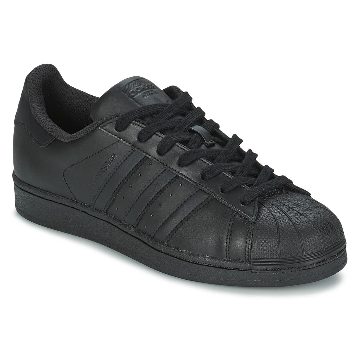 adidas Originals SUPERSTAR FOUNDATION Schwarz - Kostenloser Versand bei Spartoode ! - Schuhe Sneaker Low Herren 79,96 €