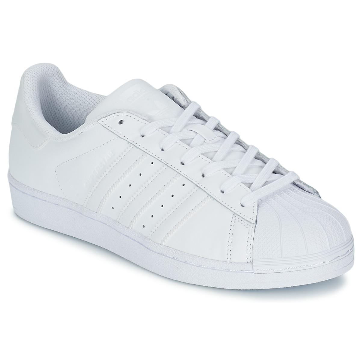 adidas Originals SUPERSTAR FOUNDATION Weiss - Kostenloser Versand bei Spartoode ! - Schuhe Sneaker Low  79,96 €