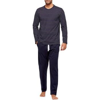 Kleidung Herren Pyjamas/ Nachthemden Impetus GO61024 039 Blau