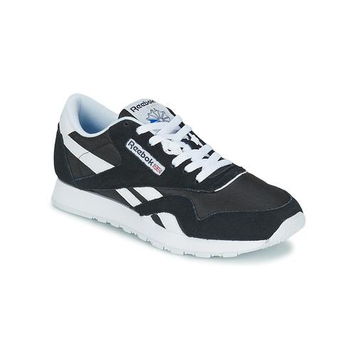 Schuhe Sneaker Low Reebok Classic CL NYLON Schwarz / Weiss