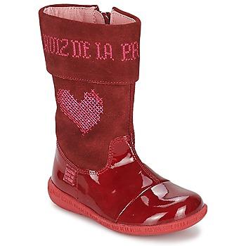 Schuhe Mädchen Klassische Stiefel Agatha Ruiz de la Prada DAFNE Rot