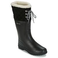 Schuhe Damen Gummistiefel Aigle POLKA GIBOULEE Schwarz