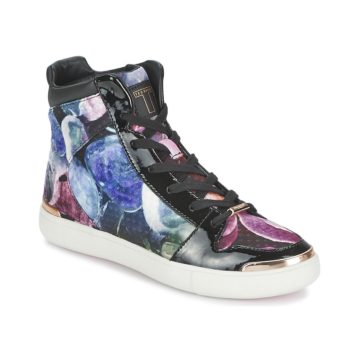 Ted Baker MADISN Schwarz / Multifarben - Kostenloser Versand bei Spartoode ! - Schuhe Sneaker High Damen 89,40 €