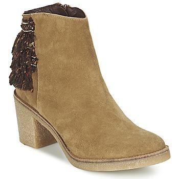 Schuhe Damen Low Boots Miista BRIANNA Braun