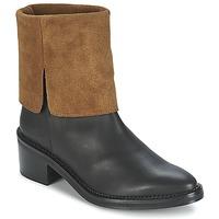 Schuhe Damen Boots Miista KAMILA Schwarz / Braun
