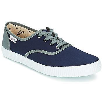 Schuhe Sneaker Low Victoria INGLESA LONA DETALL CONTRAS Marine