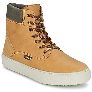 Schuhe Damen Sneaker High Victoria BOTA MONTANA PIEL/CUELLO Ocker