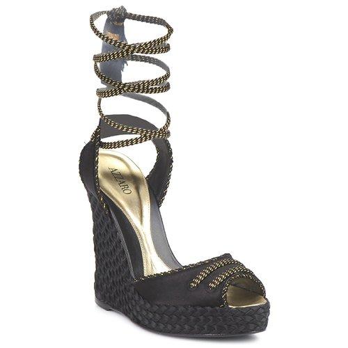 Schuhe Damen Sandalen / Sandaletten Azzaro LUGGANO Schwarz